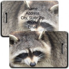 RACCOON PERSONALIZED LUGGAGE TAG