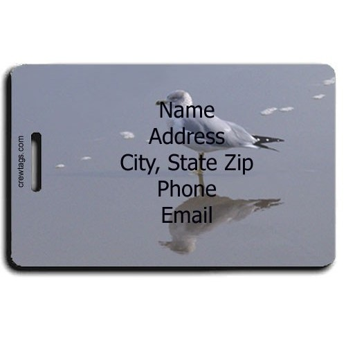 SEAGULL PERSONALIZED LUGGAGE TAG