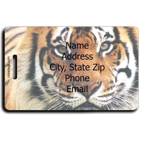 TIGER PERSONALIZED LUGGAGE TAG