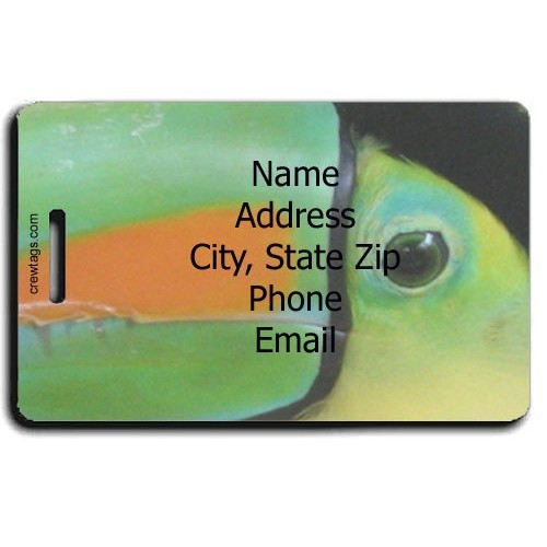 TOUCAN PERSONALIZED LUGGAGE TAG