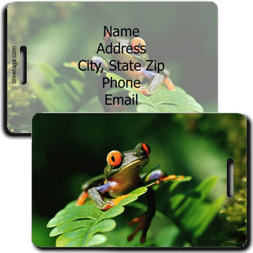 TREE FROG PERSONALIZED LUGGAGE TAG