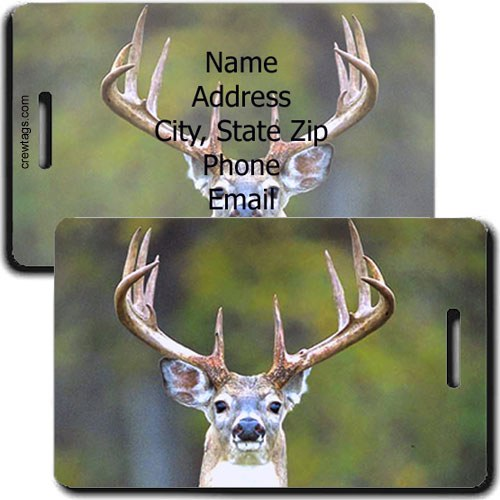 WHITE TAIL PERSONALIZED DEER LUGGAGE TAG