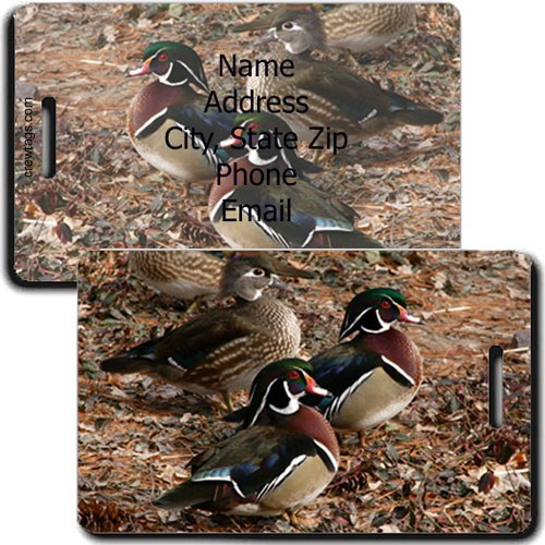 WOOD DUCK PERSONALIZED LUGGAGE TAG