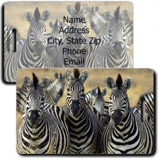 ZEBRA PERSONALIZED LUGGAGE TAG