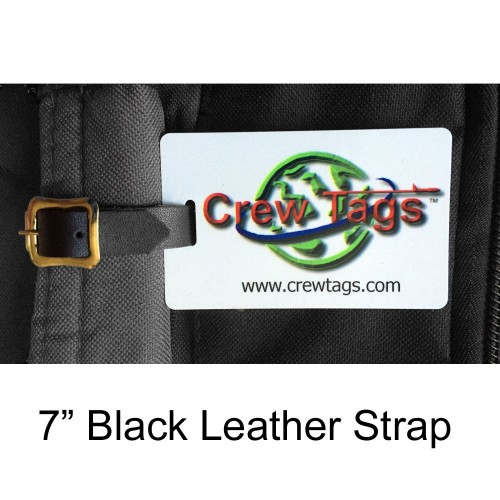 Black Leather Luggage Strap