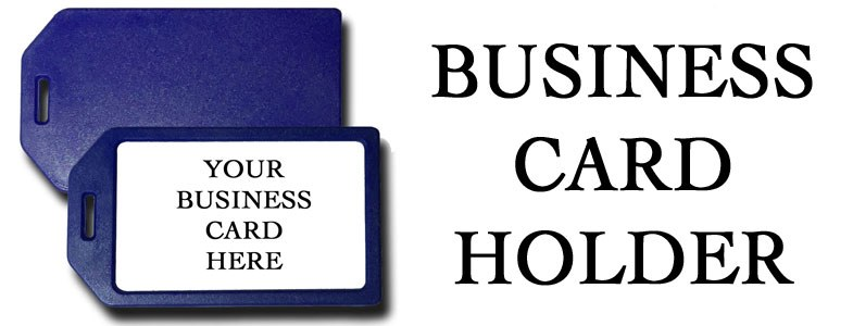 BUSINESS CARD HOLDER LUGGAGE TAGS