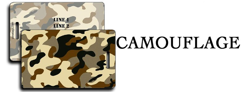 CAMOUFLAGE LUGGAGE TAGS