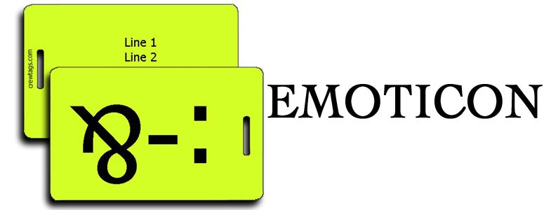 EMOTICON LUGGAGE TAGS
