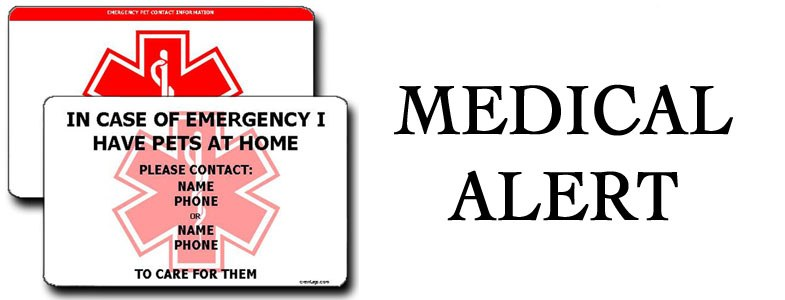 MEDICAL ALERT LUGGAGE TAGS