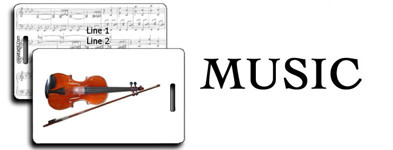 MUSICAL INSTRUMENTS LUGGAGE TAGS