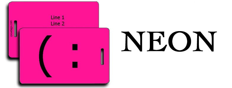 NEON LUGGAGE TAGS