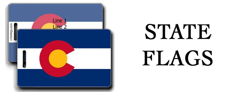 STATE FLAG LUGGAGE TAGS