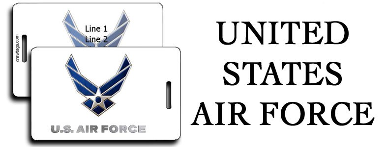 US AIR FORCE LUGGAGE TAGS