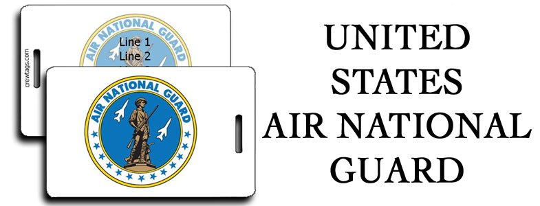 US AIR NATIONAL GUARD LUGGAGE TAGS