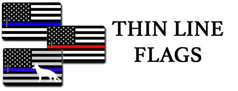THIN LINE FLAG LUGGAGE TAGS