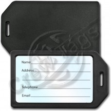 BUSINESS CARD HOLDER LUGGAGE TAG - BLACK