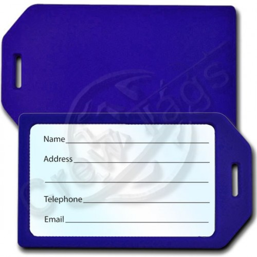 BUSINESS CARD HOLDER RIGID LUGGAGE TAG - BLUE