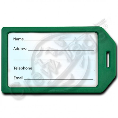 BUSINESS CARD HOLDER LUGGAGE TAG - GREEN