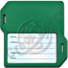 BUSINESS CARD HOLDER PLASTIC LUGGAGE TAG - GREEN