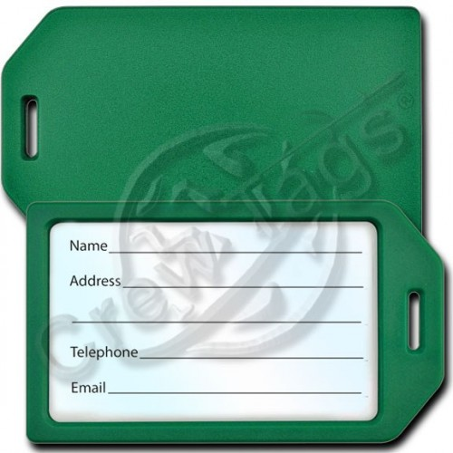 Business card holder luggage tag green business card holder plastic luggage tag green reheart Gallery