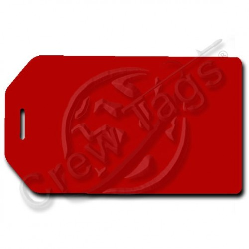BUSINESS CARD HOLDER LUGGAGE TAG - RED