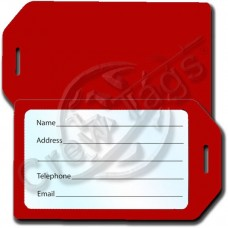 BUSINESS CARD HOLDER RIGID LUGGAGE TAG - RED
