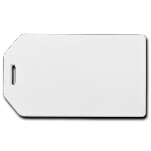 BUSINESS CARD HOLDER LUGGAGE TAG - WHITE