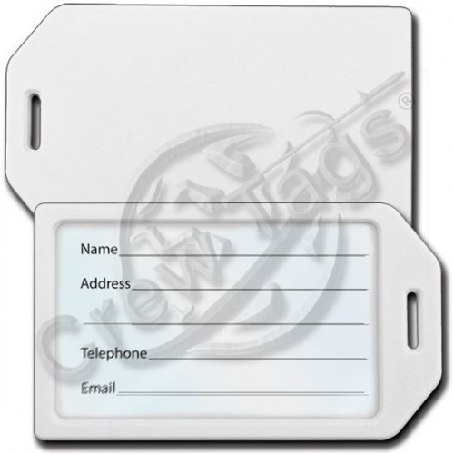 Business card holder luggage tag white colourmoves