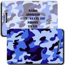 CAMOUFLAGE LUGGAGE TAGS - BLUE