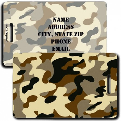 CAMOUFLAGE LUGGAGE TAGS - DESERT