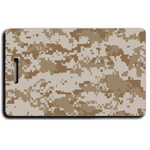 DIGITAL CAMOUFLAGE LUGGAGE TAGS - DESERT