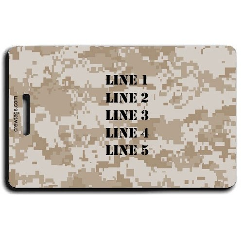 DIGITAL CAMOUFLAGE LUGGAGE TAG - DESERT