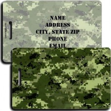 DIGITAL CAMOUFLAGE LUGGAGE TAG - GREEN
