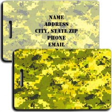 DIGITAL CAMOUFLAGE LUGGAGE TAGS - YELLOW