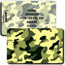 CAMOUFLAGE LUGGAGE TAGS - GREEN