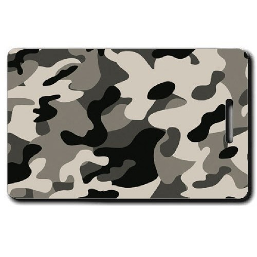 CAMOUFLAGE LUGGAGE TAGS - GRAY