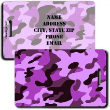 CAMOUFLAGE LUGGAGE TAGS - PURPLE