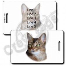 ABYSSINIAN CAT LUGGAGE TAG