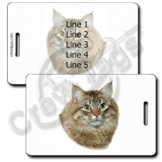 AMERICAN BOBTAIL CAT PERSONALIZED LUGGAGE TAGS