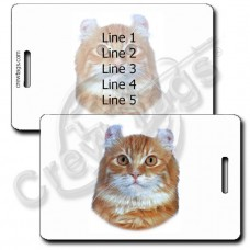 AMERICAN CURL CAT PERSONALIZED LUGGAGE TAGS