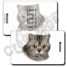AMERICAN SHORTHAIR CAT LUGGAGE TAGS