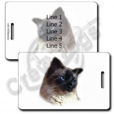 BALINESE CAT LUGGAGE TAGS
