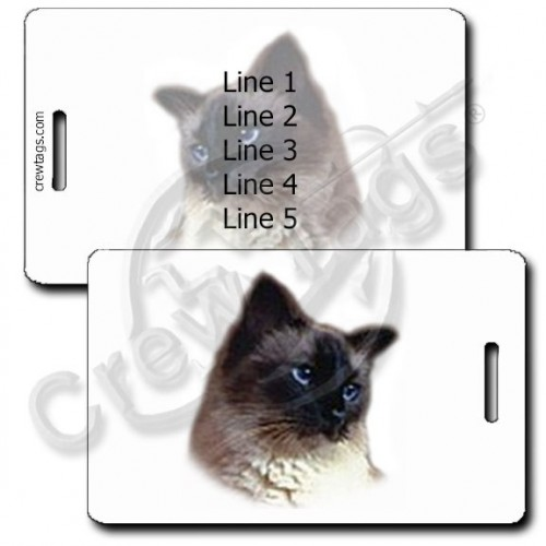 PERSONALIZED BALINESE CAT LUGGAGE TAGS