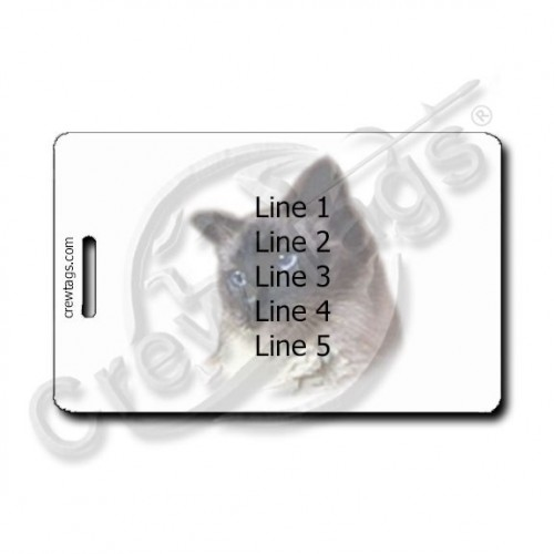 BALINESE CAT PERSONALIZED  LUGGAGE TAGS