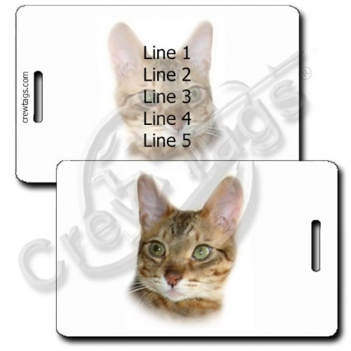 PERSONALIZED BENGAL CAT LUGGAGE TAGS
