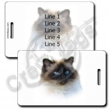 PERSONALIZED BIRMAN CAT LUGGAGE TAGS