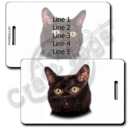 PERSONALIZED BOMBAY CAT LUGGAGE TAGS