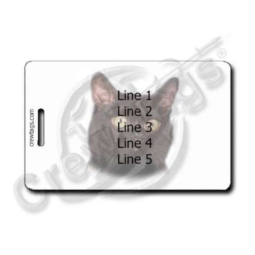 BOMBAY CAT PERSONALIZED LUGGAGE TAGS