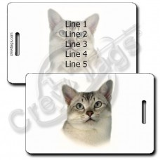 PERSONALIZED BURMILLA CAT LUGGAGE TAGS