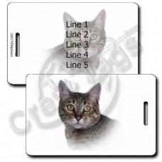 CALIFORNIA SPANGLED CAT LUGGAGE TAGS
